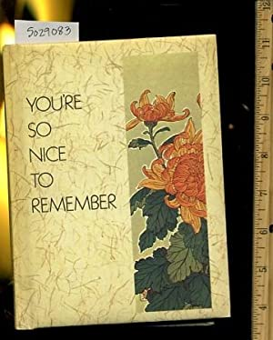 You're So Nice to Remember : how: Maryjane Hooper Tonn