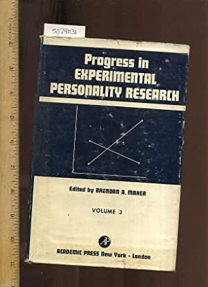 Progress in Experimental Personality Research Volume 3 / Three [Educational, Textbook, ...