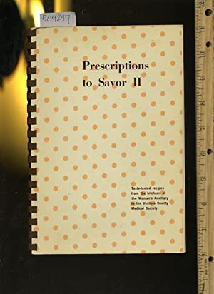 Persriptions to Savor II / 2 : 1971 [A Cookbook / Recipe Collection / Compilation of...