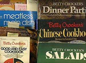 6 bks] Betty Crocker's : Good and Easy Cook Book, 1975 ; Party Book, 1960 ; Meatless Main ...