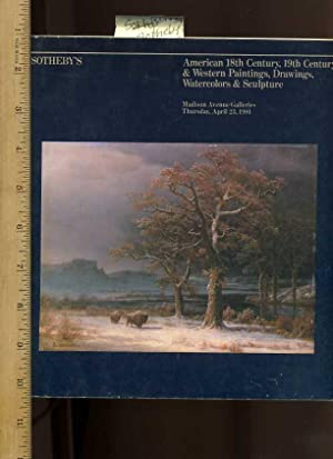 Sotheby's American 18th 19th Century and Western Paintings Drawings Watercolors and Sculpture ...