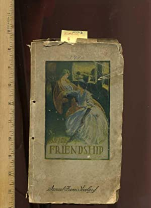 The Beauties of Friendship [1909 collection/compilation of Poetry, Decorative Lithograph on Cover ...