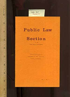 Public Law Section of the State Bar of California : Proceedings September 21, 1975, 9:00 am, Fresno...