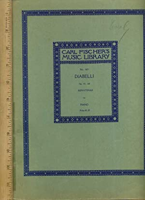 Carl Fischer's Music Library No. 665 : Diabelli, Op. 151.168, Sonatinas for Piano [songbook&#...