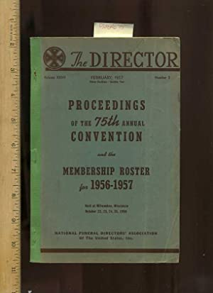 The Director : Proceedings of the 75th Annual Convention & Membership Roster for 1956-1957 Held...