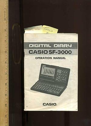 Digital Diary Casio SF-3000 Operation Manual: Casio