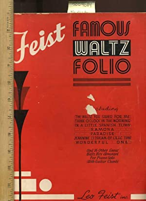 Feist Famous Waltz Folio, Including the Waltz: Feist, Leo; Inc.