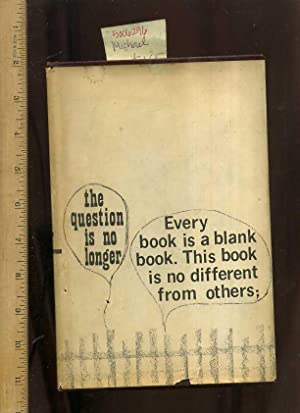 The Blank Book [this Book Looks Like Any Other Hard Cover with a Illustrated Dust Jacket, However ...