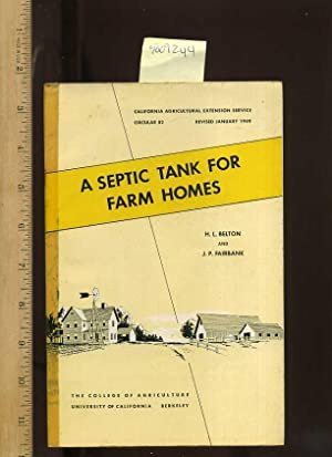 A Septic Tank for Farm Homes , Circular 82 [farms, Farmers, Farming, Agriculture Development ...