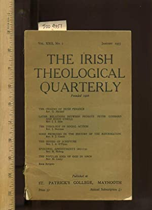The Irish Theological Quarterly, Vol. XXII / 22, No. 1, January 1955, [notes and Comments, Book ...