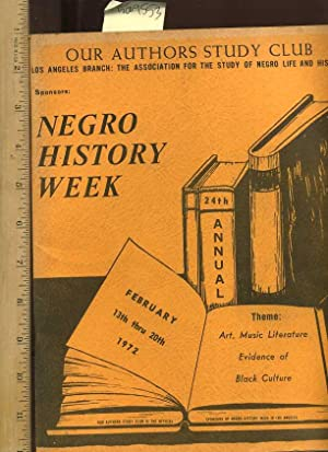 Our Authors Study Club : Los Angeles Branch : The Association for the Study of Negro Life and ...
