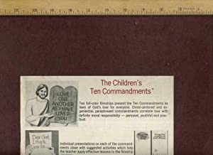 The Children's Ten Commandments [book, Audio Records and Filmstrips, religious Readings, ...