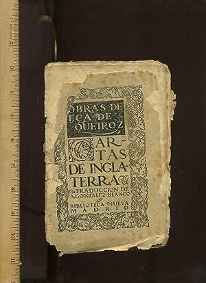 Obras De Eca De Queiroz : Cartas De Inglaterra Traduccion De A. Gonzalez Blanco [Translation: Works...