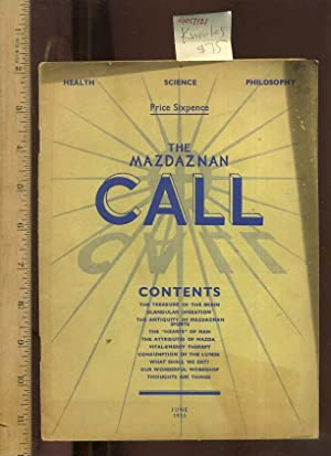 Health Science Philosophy : The Masdaznan Call : Contents: Treasure of the Brain, Glandular ...