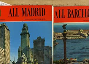 2 Bks / series] All Madrid ; All Barcelona [pictorial Sourvenir Travel Biography of Each of ...