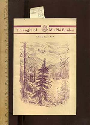 Triangle of Mu Phi Epsilon : August 1928, Volume XXII / 22 Number 4 : Story of the Convention ...