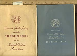 2 Bks / series] Concert Hall Limited Recordings : Concert Hall Society Presents : The Seventh ...