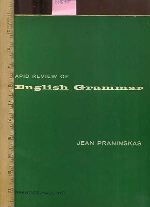Rapid Review of English Grammar : For: Praninskas, Jean