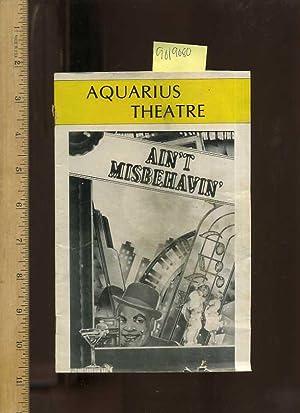Aquarius Theatre : Ain't Misbehavin : April: Glass, Herbert /
