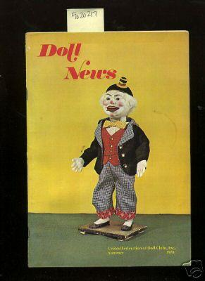 Doll News : Vol XXVII / 27 No. 3 Summer 1978 [Pictorial Periodical, Featuring: Restoration ...
