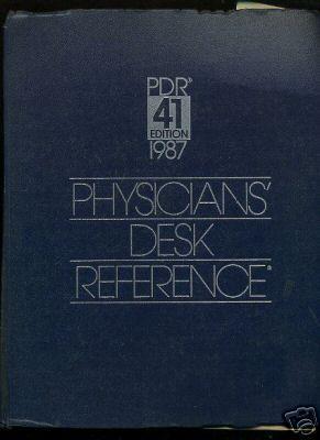 Physicians Desk Reference : PDR 41 Edition : 1987: Barnhart, Edward R. / Mary Trelewicz, Barbara B....