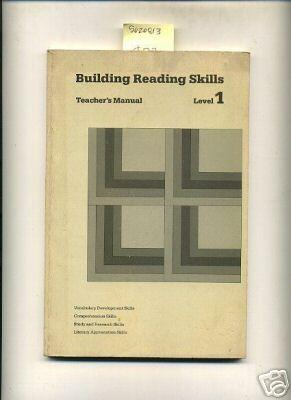 Building Reading Skills : Teacher's Manual : Level 1 : Vocabulary Development Skills, ...