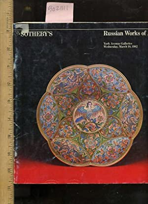 Sale 4818 Y : Russian Works of Art : Properties of Various Owners including Property from the ...