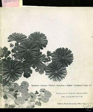 Sale 3663 : Catalog of Japaneese Korean Tibetan Nepalese Indian Southeast Asian Works of Art ...