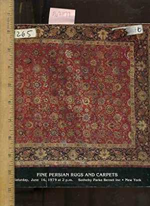 Sale 4265 : Catalog of Fine Persian Rugs and Carpets : Property of Various Owners : June 16 1979 [...