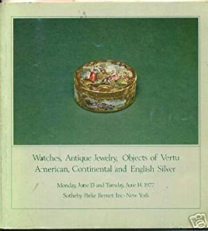 Sale 4006 : Catalog of Watches Antique Jewelry Objects of Vertu American Conintental and English ...