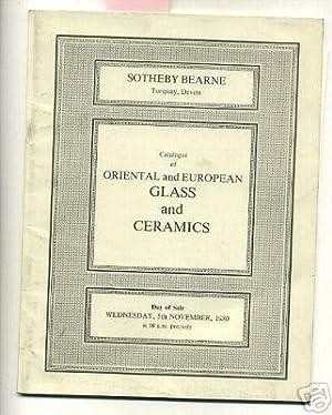 Sale C39 : Catalog / Catalogue of Oriental and European Glass and Ceramics : November 5 1980 [...
