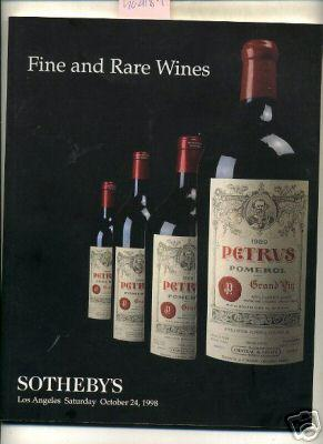 Sale 7212 : Fine and Rare Wines : October 24 1998 [catalog of Rare Vintages, Bottlers, Winemakers, ...