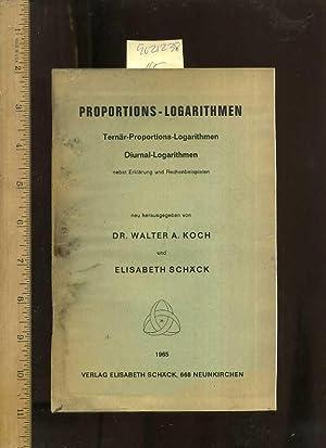 Proportions Logarithmen : Ternar Proportions Logarithmen Diurnal Logarithmen Nebst Erklarung Und ...