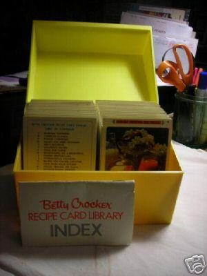 Betty Crocker Recipe Card Library [a pictorial cookbook in loose card format in their own box with ...