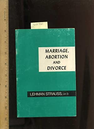 Marriage Abortion and Divorce [Critical / Practical Study ; Review ; Reference ; Biographical ...