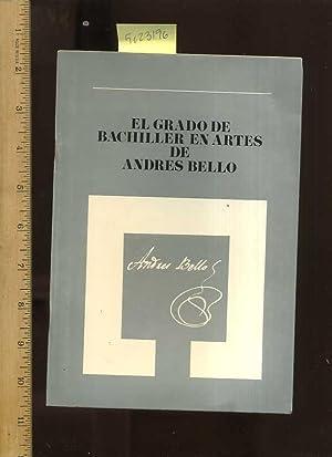 El Grado De Bachiller En Artes De: Urdaneta, Oscar Sambrano