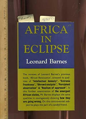 Africa in Eclipse [Colonialism, is it Good or Bad, Author states colonialism is imperial ...