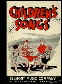 Children's Songs [1937 Pictorial Song Booklet for Children, That Features Racist / black ...