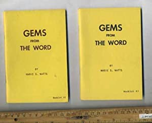 Gems from the Word : Booklet No.: Marie W. Watts