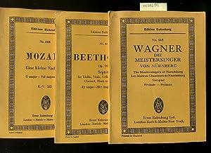 Edition Eulenburg : No. 665 Wagner : Die Meistersinger Von Nurnberg : The Masters of Nuremberg / ...