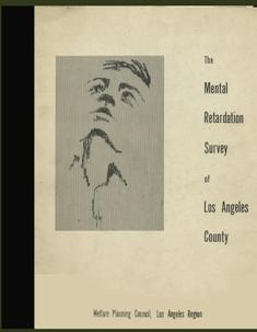 The Mental Retardation Survey of Los Angels: Mooring, Ivy ;