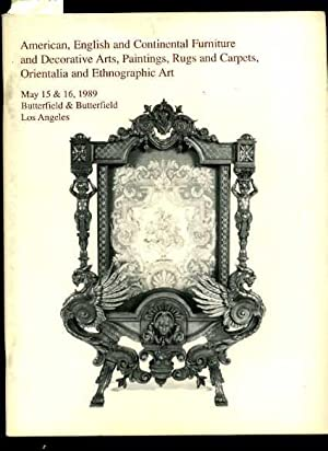 American English and Continental Furniture and decorative Arts Paintings Rugs and Carpets ...