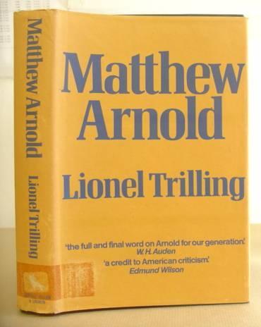 Matthew Arnold: Trilling, Lionel