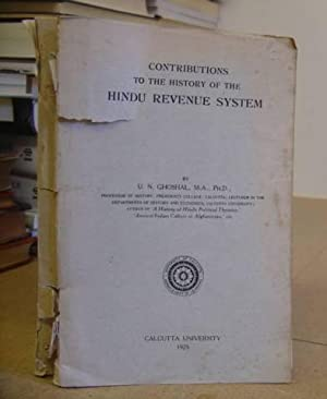 Contributions To The History Of The Hindu: Ghoshal, U N