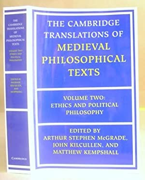The Cambridge Translations Of Medieval Philosophical Texts Volume Two [ II - 2 ] Ethics And ...
