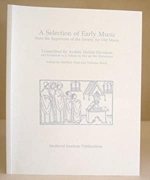A Selection Of Early Music From The Repertoire Of The Society For Old Music: Davidson, Audrey ...
