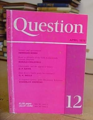 Question 12: Wells, G A [editor]