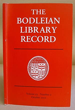 The Bodleian Library Record, Volume 23 Number 2, October 2010