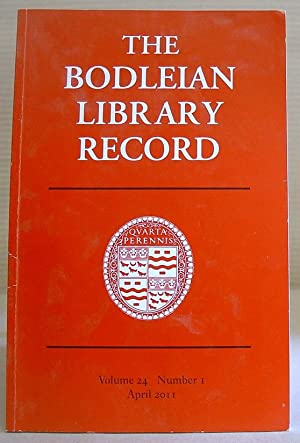 The Bodleian Library Record, Volume 24 Number 1, April 2011