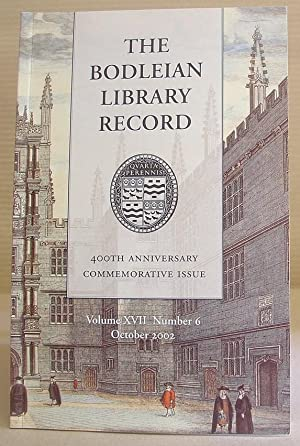 The Bodleian Library Record, Volume XVIII [ 17 ] Number 6, October 2002